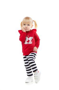 Cango punane hiirekesega pusa Lasteriided - HellyK - Kvaliteetsed lasteriided, villariided, barefoot jalatsid