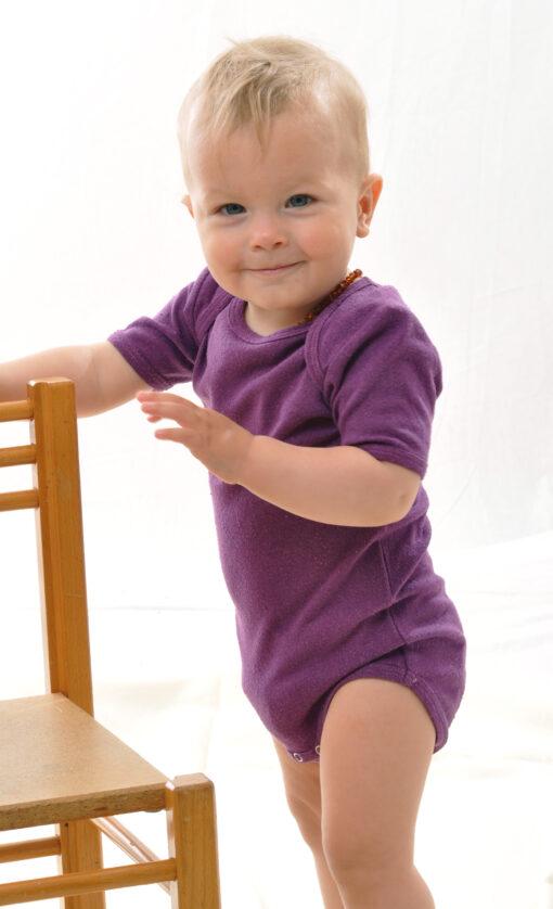 Bourette´i siidist bodi, Ploom Bodid - HellyK - Kvaliteetsed lasteriided, villariided, barefoot jalatsid