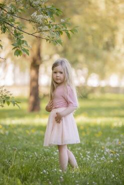 Bourette´i siidist t-särk, Rose Lasteriided - HellyK - Kvaliteetsed lasteriided, villariided, barefoot jalatsid