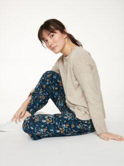Bambuskangast haaremipüksid, Atkins Majolica Blue Naistele - HellyK - Kvaliteetsed lasteriided, villariided, barefoot jalatsid