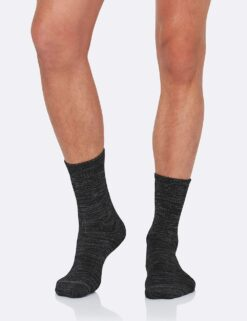 Boody Men's Boot Socks- Black/Grey Meestele - HellyK - Kvaliteetsed lasteriided, villariided, barefoot jalatsid