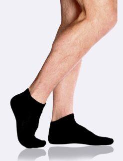 Boody Men's Sports Ankle Socks- Black Meestele - HellyK - Kvaliteetsed lasteriided, villariided, barefoot jalatsid