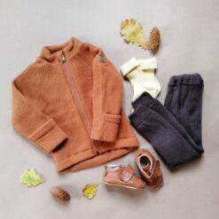 Paksud villased retuusid, Pruun Lasteriided - HellyK - Kvaliteetsed lasteriided, villariided, barefoot jalatsid