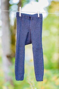 Paksud villased retuusid, Must Lasteriided - HellyK - Kvaliteetsed lasteriided, villariided, barefoot jalatsid