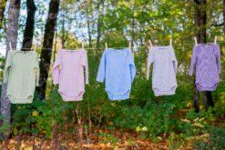 Cosilana, siid-vill-puuvill body, Sinine Bodid - HellyK - Kvaliteetsed lasteriided, villariided, barefoot jalatsid