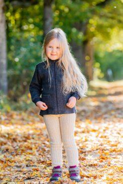 Paksud villased retuusid, Naturaalvalge Lasteriided - HellyK - Kvaliteetsed lasteriided, villariided, barefoot jalatsid