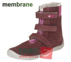 Fare Bare talvesaapad membraaniga, Tumepunane 33-42 Laste barefoot jalatsid - HellyK - Kvaliteetsed lasteriided, villariided, barefoot jalatsid