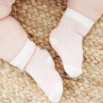 Baby-Socks-Rose-Stripe