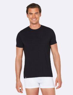 Boody Crew Neck T-Shirt- Black Meestele - HellyK - Kvaliteetsed lasteriided, villariided, barefoot jalatsid