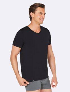 Boody V-Neck T-Shirt- Black Meestele - HellyK - Kvaliteetsed lasteriided, villariided, barefoot jalatsid