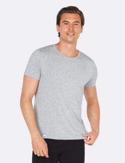Boody Crew Neck T-Shirt- Light Grey Marl Meestele - HellyK - Kvaliteetsed lasteriided, villariided, barefoot jalatsid