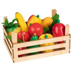 Goki Puu- ja juurviljad kastis, 10 tk Mänguasjad - HellyK - Kvaliteetsed lasteriided, villariided, barefoot jalatsid