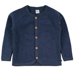 Fred´s World meriinofliisist jakk, Navy melange Green Cotton - HellyK - Kvaliteetsed lasteriided, villariided, barefoot jalatsid