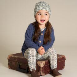 Fred´s World meriinofliisist jakk, Navy melange, baby Green Cotton - HellyK - Kvaliteetsed lasteriided, villariided, barefoot jalatsid