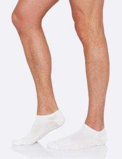 Boody Men's Low Cut Sneaker Sock- White Meestele - HellyK - Kvaliteetsed lasteriided, villariided, barefoot jalatsid