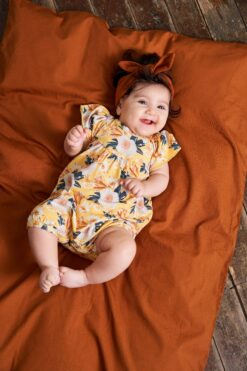Müsli Bloom romper, Sun Bodid - HellyK - Kvaliteetsed lasteriided, villariided, barefoot jalatsid