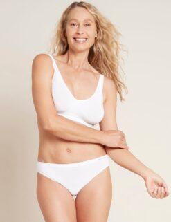 Boody rinnahoidja Shaper Crop Bra- White Naistele - HellyK - Kvaliteetsed lasteriided, villariided, barefoot jalatsid