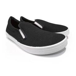 Anatomic slip-on, must, valge tallaga Sisejalats/suvi - HellyK - Kvaliteetsed lasteriided, villariided, barefoot jalatsid
