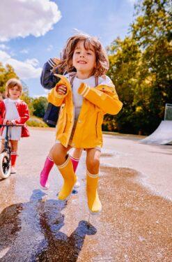 Aigle Lolly Pop, Jaune Kummikud - HellyK - Kvaliteetsed lasteriided, villariided, barefoot jalatsid