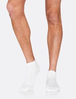 Boody Men's Sports Ankle Socks- White Meestele - HellyK - Kvaliteetsed lasteriided, villariided, barefoot jalatsid