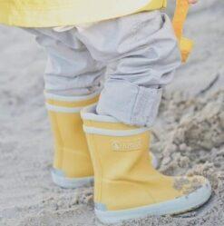 Aigle Baby Flac, Jaune Kummikud - HellyK - Kvaliteetsed lasteriided, villariided, barefoot jalatsid
