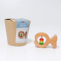 """Grimm´s kõristi """"Kalake Joschi"""" Beebimänguasjad - HellyK - Kvaliteetsed lasteriided, villariided, barefoot jalatsid"""