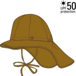 Mikk-Line päikesekaitsemüts UPF50, Golden Brown Lasteriided - HellyK - Kvaliteetsed lasteriided, villariided, barefoot jalatsid