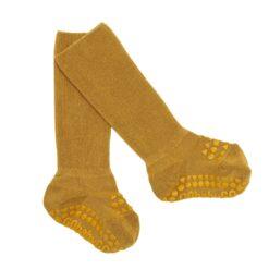 GoBabyGo libisemiskindlad bambussokid, Mustard Lasteriided - HellyK - Kvaliteetsed lasteriided, villariided, barefoot jalatsid