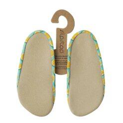 Slipstop sussid, Lime, lastele Basseinisussid lastele - HellyK - Kvaliteetsed lasteriided, villariided, barefoot jalatsid