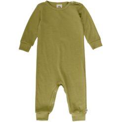 Müsli Woolly meriino-siidi bodysuit, Moss Green Cotton - HellyK - Kvaliteetsed lasteriided, villariided, barefoot jalatsid