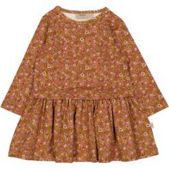 Wheat Astrid baby kleit, Bronze flowers Kleidid/seelikud - HellyK - Kvaliteetsed lasteriided, villariided, barefoot jalatsid