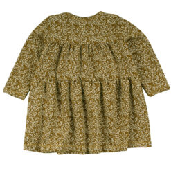 Müsli Petit Fleur dress, baby Green Cotton - HellyK - Kvaliteetsed lasteriided, villariided, barefoot jalatsid