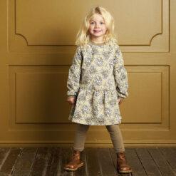 Müsli Boom bell sleeve dress Green Cotton - HellyK - Kvaliteetsed lasteriided, villariided, barefoot jalatsid