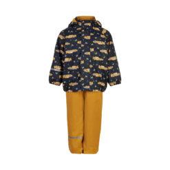Celavi vihmakomplekt sooja voodriga, Mineral Yellow Cars Lasteriided - HellyK - Kvaliteetsed lasteriided, villariided, barefoot jalatsid