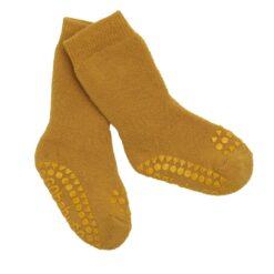 GoBabyGo libisemiskindlad froteesokid, Mustard Lasteriided - HellyK - Kvaliteetsed lasteriided, villariided, barefoot jalatsid