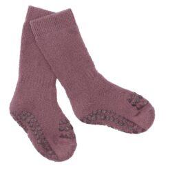GoBabyGo libisemiskindlad froteesokid, Misty Plum Lasteriided - HellyK - Kvaliteetsed lasteriided, villariided, barefoot jalatsid