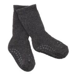 GoBabyGo libisemiskindlad froteesokid, Dark Grey Melange Lasteriided - HellyK - Kvaliteetsed lasteriided, villariided, barefoot jalatsid