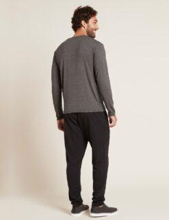 Boody Long Sleeve Crew Neck T-Shirt- Dark Marl Meestele - HellyK - Kvaliteetsed lasteriided, villariided, barefoot jalatsid