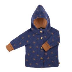 Pure Pure vanutatud meriinovillast jakk, Blue/Caramel Lasteriided - HellyK - Kvaliteetsed lasteriided, villariided, barefoot jalatsid