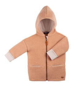 Pure Pure vanutatud meriinovillast jakk, Dusty Apricot Lasteriided - HellyK - Kvaliteetsed lasteriided, villariided, barefoot jalatsid