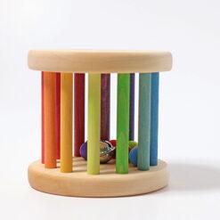 """Grimm´s kõristi """"Rainbow Baby Roller"""" Beebimänguasjad - HellyK - Kvaliteetsed lasteriided, villariided, barefoot jalatsid"""