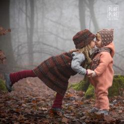 Pure Pure vanutatud meriinovillast kombe, Misty Rose/Natur Lasteriided - HellyK - Kvaliteetsed lasteriided, villariided, barefoot jalatsid