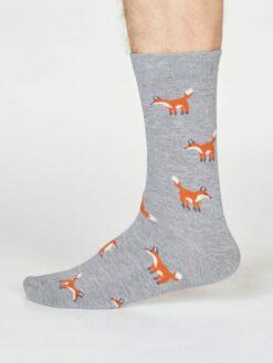 Thought Bambussokid Syd Fox- Grey Marle Meestele - HellyK - Kvaliteetsed lasteriided, villariided, barefoot jalatsid