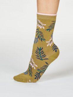 Thought Bambussokid, Mable Leaf- Herb Green Naistele - HellyK - Kvaliteetsed lasteriided, villariided, barefoot jalatsid