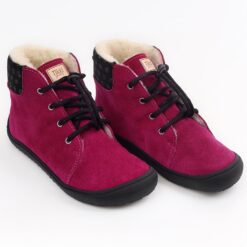 Tikki talvesaapad BEETLE- Fuxia Laste barefoot jalatsid - HellyK - Kvaliteetsed lasteriided, villariided, barefoot jalatsid