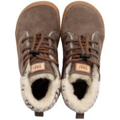 Tikki talvesaapad BEETLE- Mandorla Laste barefoot jalatsid - HellyK - Kvaliteetsed lasteriided, villariided, barefoot jalatsid
