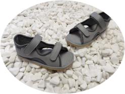 Beda lahtised sandaalid Grey Laste barefoot jalatsid - HellyK - Kvaliteetsed lasteriided, villariided, barefoot jalatsid